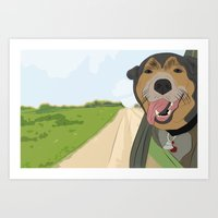 Rusty Cruising Art Print