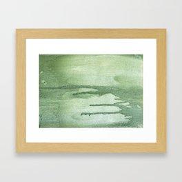 Dark sea green colorful wash drawing texture Framed Art Print