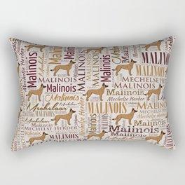Belgian Malinois Dog Word Art pattern Rectangular Pillow