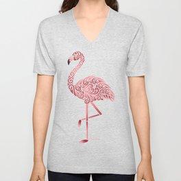 Funky Tribal Flamingo Unisex V-Neck