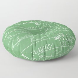 Library Card 23322 Negative Green Floor Pillow