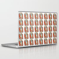 popeye Laptop & iPad Skins featuring Popeye Smokes 2.0 by Snack Paintings