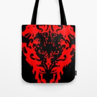 lions Tote Bags featuring Lions by Littlefox