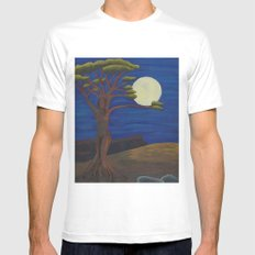 Gaia and Luna Ver. 2.0 Mens Fitted Tee White MEDIUM