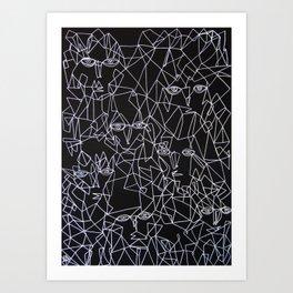 Tracing Faces  Art Print