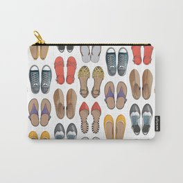 Hard choice // shoes on white background Carry-All Pouch