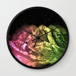 Aurora Mountains Wall Clock