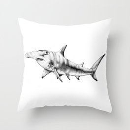 Hammerhead Shark Throw Pillow
