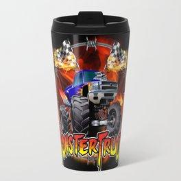 Monster Truck blue on Fire                                          Travel Mug