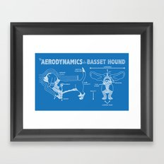 The Aerodynamics of a Basset Hound Framed Art Print