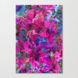 Pink Poppy Jungle Canvas Print