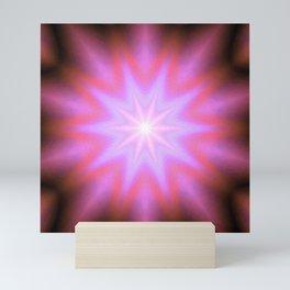 Shining Star Pink Mauve Lavender Mini Art Print