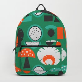 Funny mushrooms in green Backpack