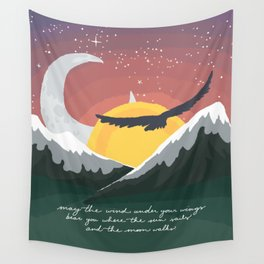 Where the Sun Sails and the Moon Walks Wall Tapestry
