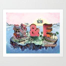 E&N Art Print