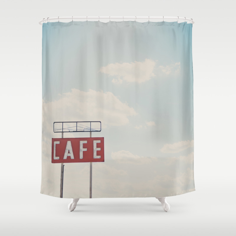 A Cafe Along Route 66 ... Shower Curtain by Oohprettyshiny CTN7540105