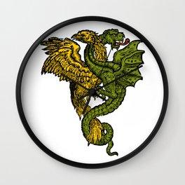 dragon and phoenix Wall Clock
