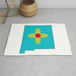 Turquoise New Mexico Rug