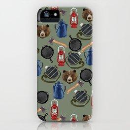 8bit Campfire iPhone Case