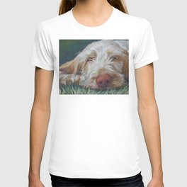 Spinone Italiano dog art portrait from an original painting by L.A.Shepard T-shirt