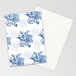 Floral Bliss - Blue I  Stationery Cards