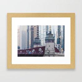 Chicago River Walk Framed Art Print