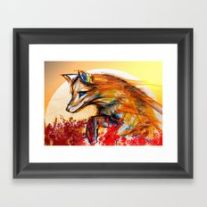 Fox in Sunset II Framed Art Print