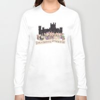 downton abbey Long Sleeve T-shirts featuring Downton Abbey - Dollshouse Downton by Grace Venning