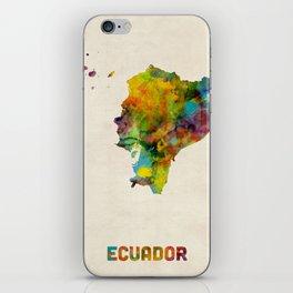 Ecuador Watercolor Map iPhone Skin