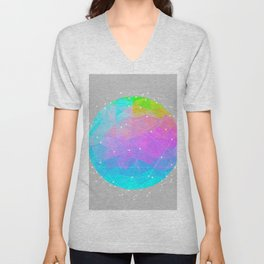 The Dots Will Somehow Connect (Geometric Sphere) Unisex V-Neck