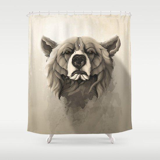 grizzly bear shower curtain by rafapasta society6