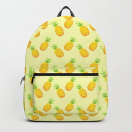 Pineapple Pattern - Yellow Backpack