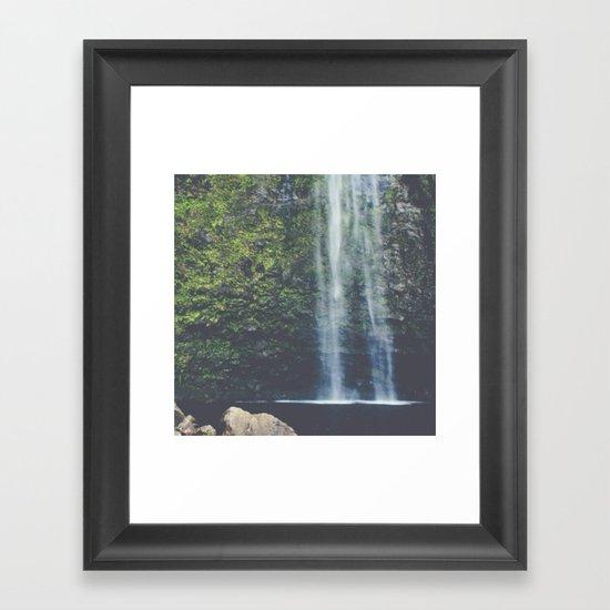 Wanderlust Waterfall in Nature Framed Art Print