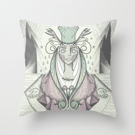 Desert Queen Throw Pillow