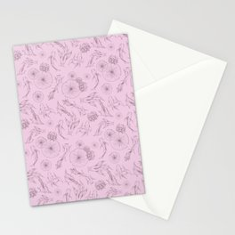 LuMa Koi Pond Print Lilac Stationery Cards