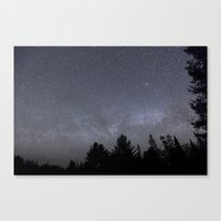 milky way Canvas Prints featuring milky way  by jon hamblin