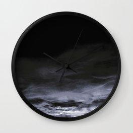 BLACK & BLUE & WHITE TOUCHING #2 #abstract #decor #art #society6 Wall Clock