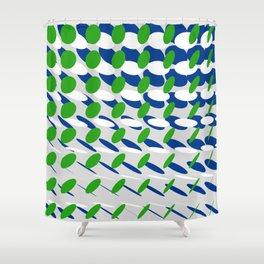 elipse grid pattern_blue, green02 Shower Curtain
