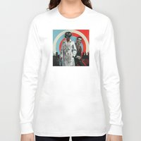 superheroes Long Sleeve T-shirts featuring Superheroes SF by Troy DeRose
