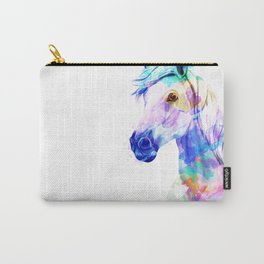 Horse Watercolor, Horse Print, Watercolor Print, Watercolor Animal, Horse Painting, Horse Gift Print Carry-All Pouch