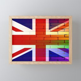 Gay Rainbow Wall Union Jack Framed Mini Art Print