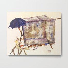 Egon Schiele - Street cart (new editing) Metal Print