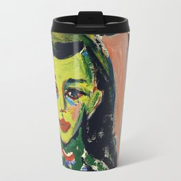 Fränzi in front of Carved Chair by Ernst Ludwig Kirchner, 1910 Travel Mug