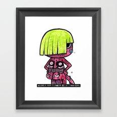 CUTIE CREEP Framed Art Print