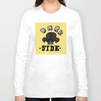 dark side Long Sleeve T-shirts featuring dark side by benjamin chaubard