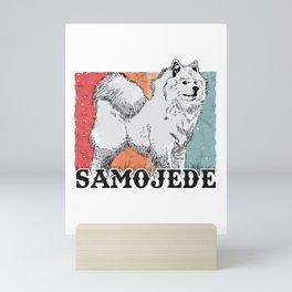 Samoyed Vintage Sled Dog Samoeds Mini Art Print