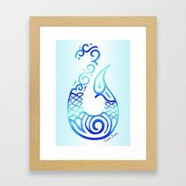 Tribal Fish Hook Framed Art Print