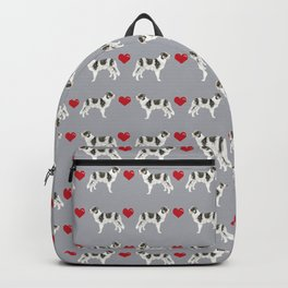 Border Collie love hearts dog breed gifts collies herding dogs pet friendly Backpack