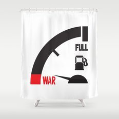 just a mile away from war Shower Curtain