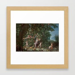 La Abundancia by  BRUEGHEL EL JOVEN, JAN Framed Art Print